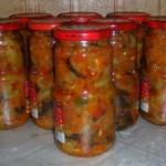 Лучший салат из баклажанов на зиму