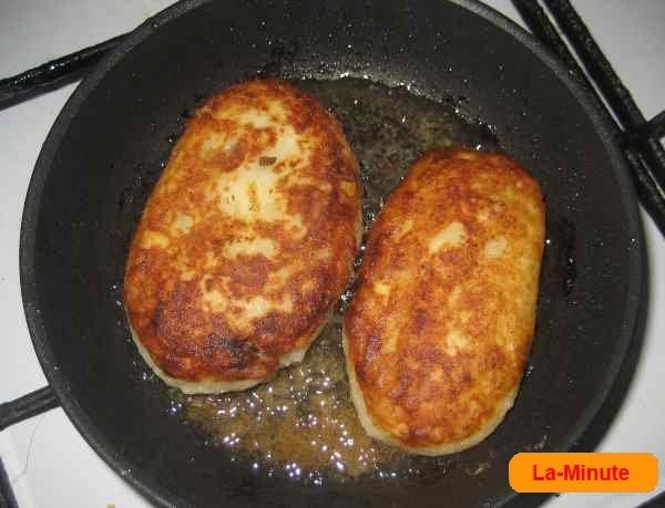 Зразы из картофеля с грибами