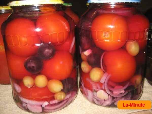 помидоры с виноградом на зиму рецепты приготовления