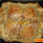 Курица, запеченная в съедобной тарелке