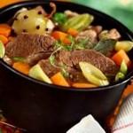 Отварное мясо с огородными приправами
