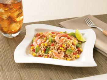 Салат з креветками, рисом та кукурудзою 1
